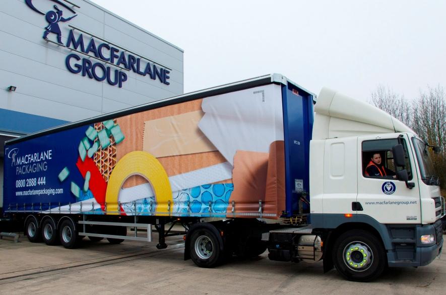 Macfarlane truck at depot