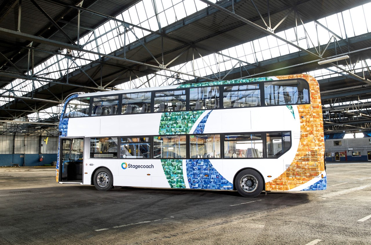 Stagecoach mosaic design