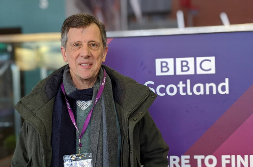 Loch Duart Sales Director Andy Bing at BBC Scotland studios in December 2019